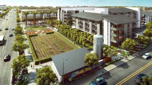 This new mixed-income housing complex comes with its own farm