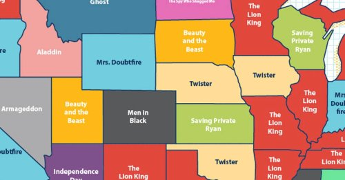 Map That Shows Every State's Favorite '90s Movie Has Shocking Surprises