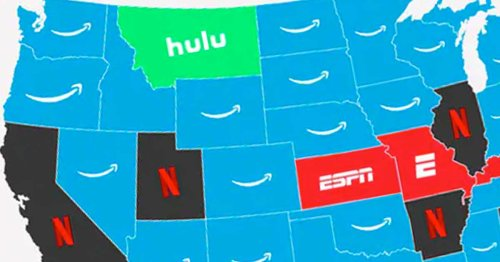 This Map Shows The Most Popular Streaming Service in Every State. It's Super Surprising