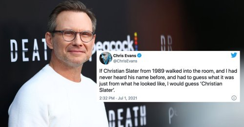 Christian Slater Has 'No Idea' Why Chris Evans Tweeted About Him