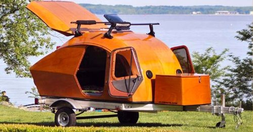This Sleek Wooden DIY Teardrop Camper Is Your Summer Escape Pod