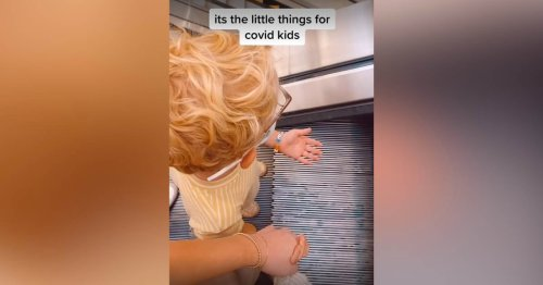 This Toddler's Viral Reaction to Riding an Escalator Is Mesmerizing