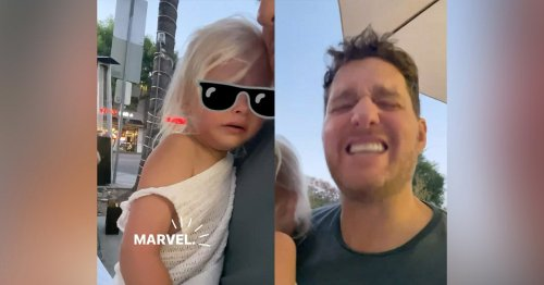 Michael Bublé's Toddler Tearfully Admits SheLikes Marvel, Not Princesses in Viral Post