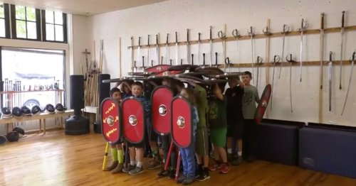 Kids Show Off Roman Warrior Formation in Awesome Viral Video