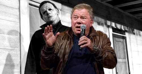 William Shatner Learning the 'Halloween' Mask Is His Face Is Peak William Shatner