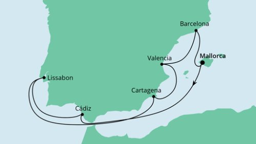 Cadiz in Spanien – 1. interessante Etappe der AIDAmar Familien-Kreuzfahrt