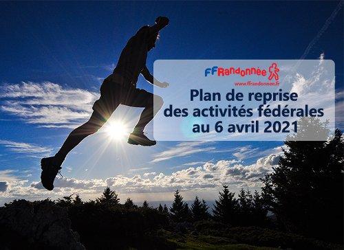 Plan de reprise des activités fédérales au 06 avril 2021