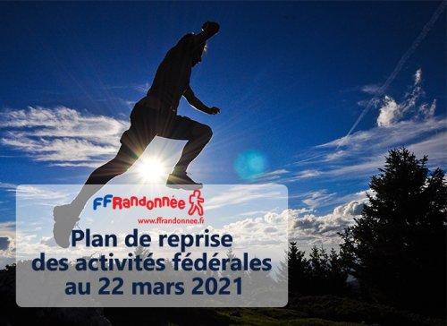Plan de reprise des activités fédérales au 22 mars 2021