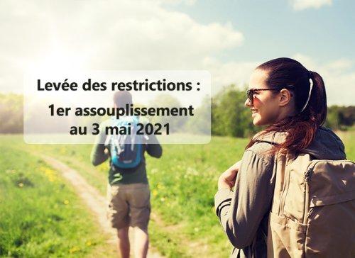 Les nouvelles mesures d'assouplissements applicables au 3 mai 2021
