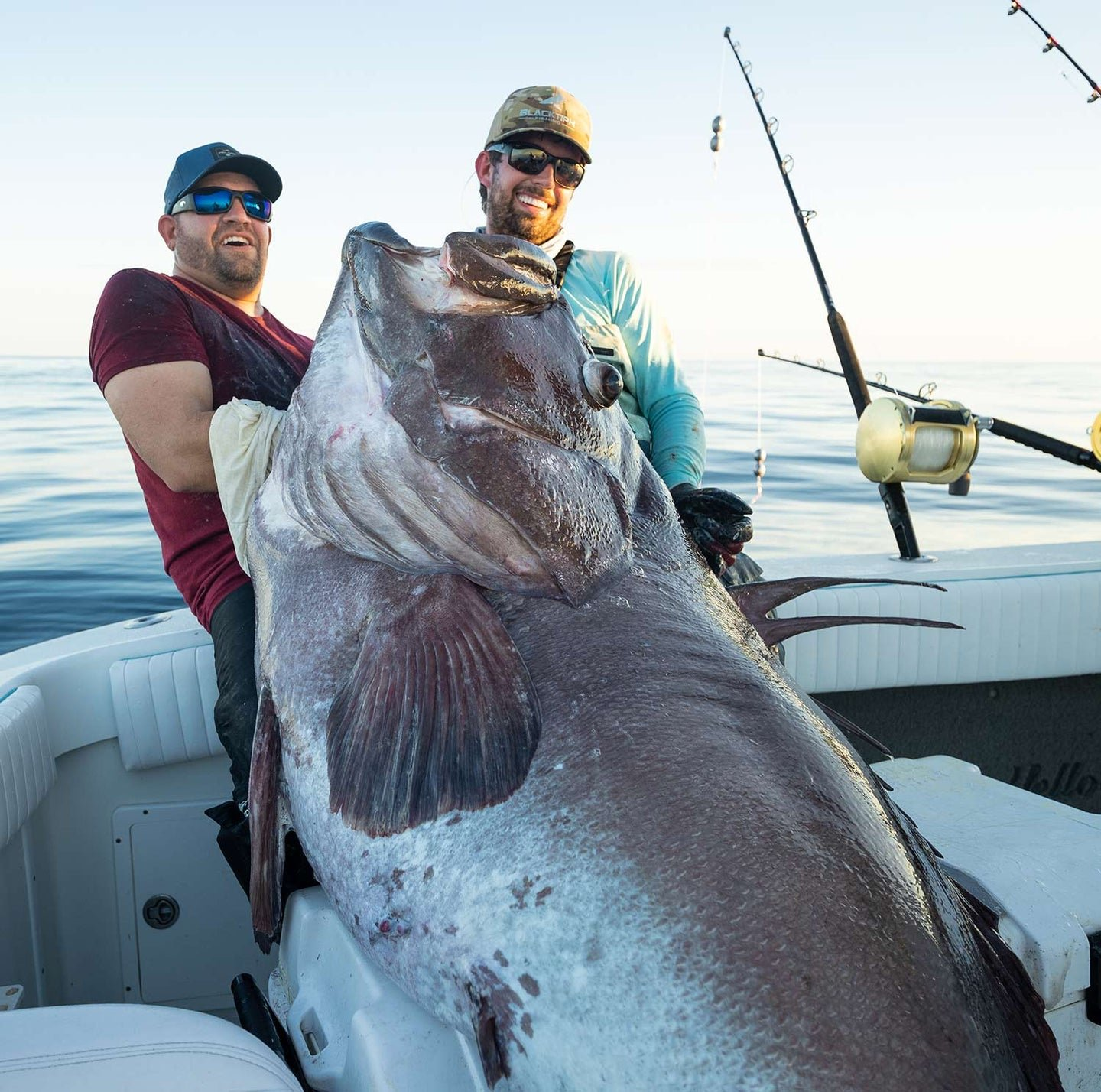 This 300-pound grouper went toe-to-toe with four grown men