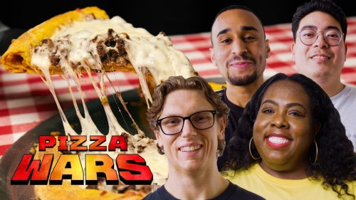 Watch Mythical Chef Josh and Nicole Russell Make Taco Bell and Beef Patty Inspired Pizzas