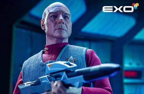 New Star Trek: First Contact Captain Jean-Luc Picard action figure unveiled by EXO-6 and Sideshow