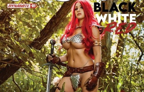 Red Sonja, Vampirella, Dejah Thoris, Barbarella and Bettie Page Cosplay covers for August 2021 revealed by Dynamite