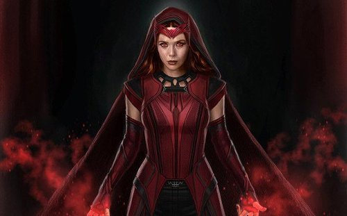 WandaVision concept art showcases a hooded Scarlet Witch