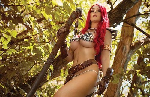 Dynamite's October 2021 cosplay covers for Vampirella, Red Sonja, Dejah Thoris, Barbarella, Bettie Page and Jennifer Blood