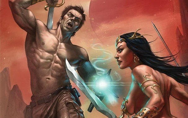 Dejah Thoris vs John Carter - cover
