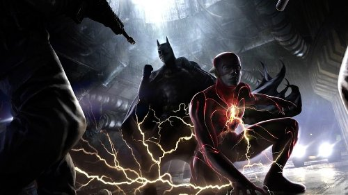 The Flash concept art showcases the Scarlet Speedster's new suit and Michael Keaton's Batman