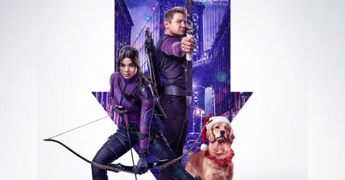 Marvel's Hawkeye poster features Clint Barton, Kate Bishop and Lucky the Pizza Dog