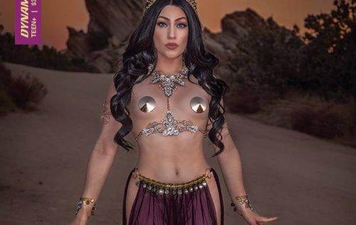 Dejah Thoris, Barbarella, Red Sonja, Vampirella, Purgatori, Sheena and Jennifer Blood grace Dynamite's November 2021 cosplay covers