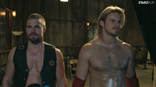 First trailer for pro-wrestling drama Heels starring Stephen Amell and Alexander Ludwig