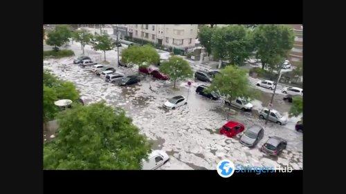 France: Severe flooding after thunderstorm in Lyon
