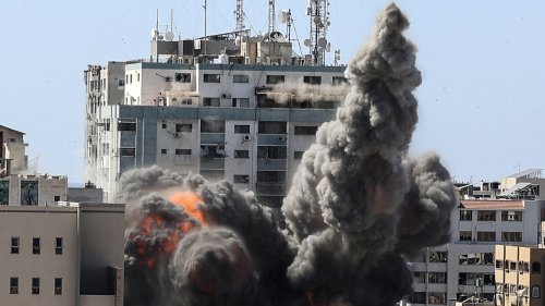 Israeli Strikes Kill 10 In Refugee Camp, Topple News Media Building