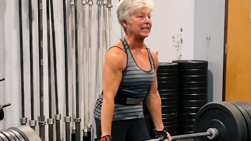 Elderly Woman Deadlifts Huge Weight | Best of the Week