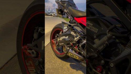 Motorcycle Enthusiast Captures Black BMW