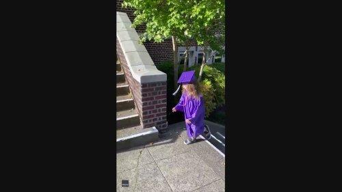 Seattle Boy Holds Graduation Ceremony for Older Sister Finishing Pre-Kindergarten