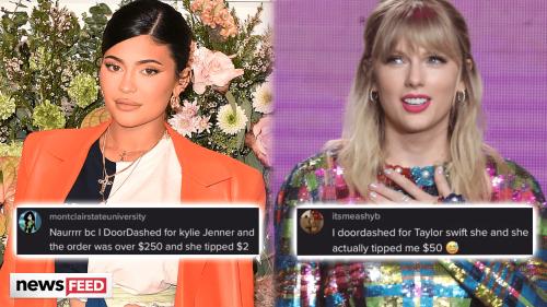 Taylor Swift PRAISED For Doordash Tip, Kylie Jenner Mocked For Hers!