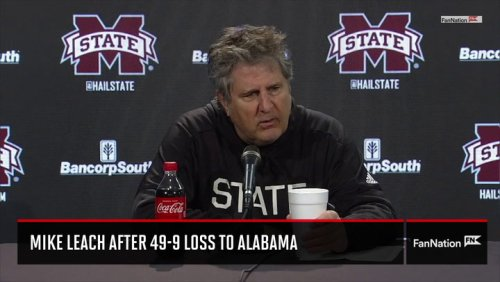 Mike Leach Press Conference After 49-9 Alabama Loss