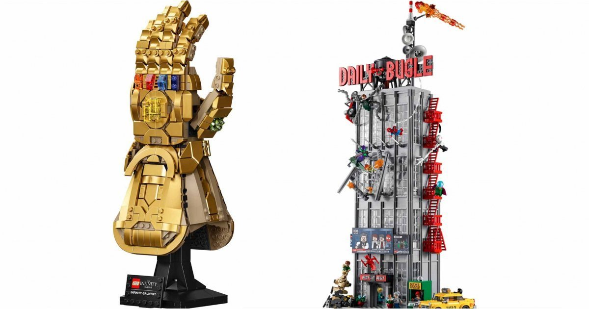 This LEGO Infinity Gauntlet and Daily Bugle are the stuff of geek dreams
