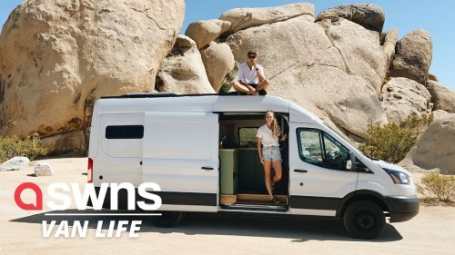 These US newlyweds left their 1,000 square foot home for a life on the road in a 70 square foot VAN (RAW)