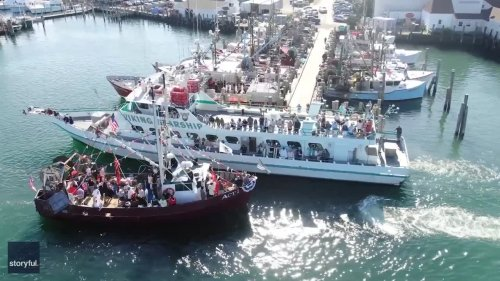 Boats of New York Fishing Hamlet Blessed in Annual Ceremony