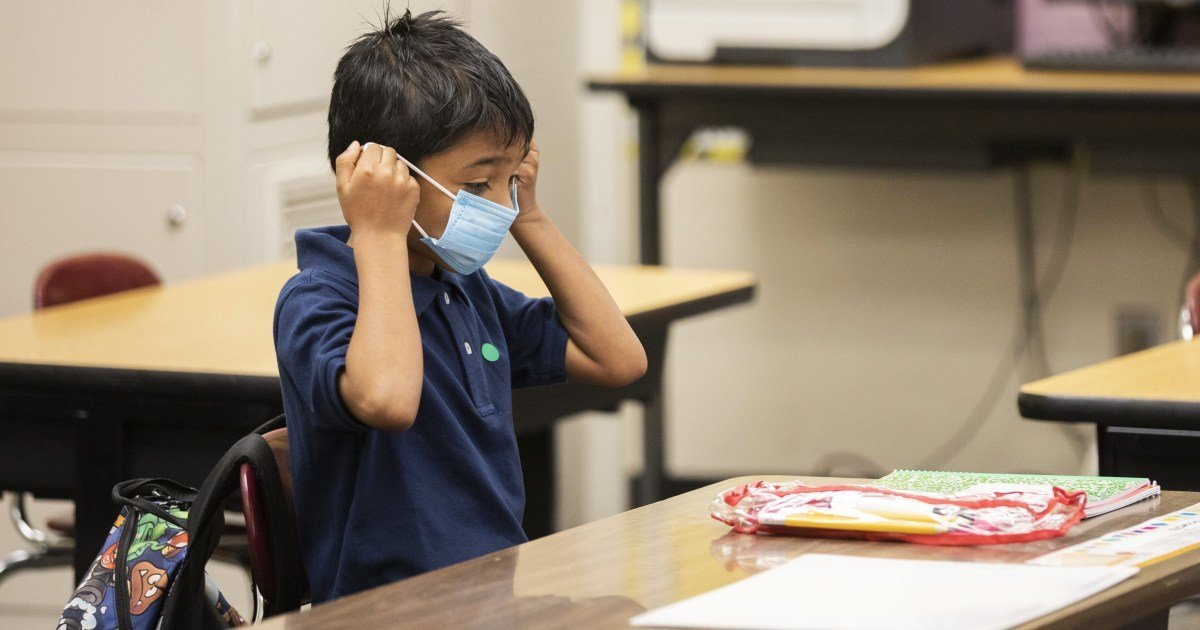 CDC recommends masks for all K-12 students, even those who have been vaccinated