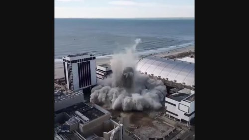 Drone Footage Shows Demolition of Trump Plaza Casino on Atlantic City Boardwalk