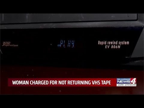 Woman charged with felony over decades-old VHS tape rental