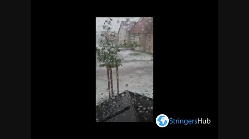 Germany: Severe storm pummels Bempflingen with hail and heavy rain