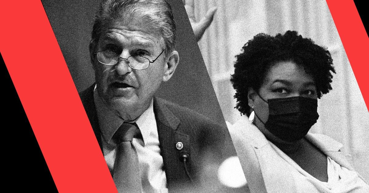 The sinister reason the GOP is highlighting Stacey Abrams over Joe Manchin