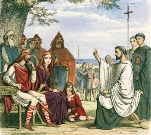 The Adoption Of Christianity By Anglo-saxons Pagans