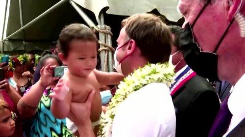 Macron visits French Polynesia