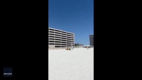 Parachuting Easter Bunny Lands On Busy Beach at Florida-Alabama Border