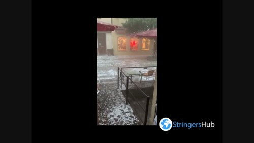 Germany: Severe storm pummels Tübingen with hail and heavy rain