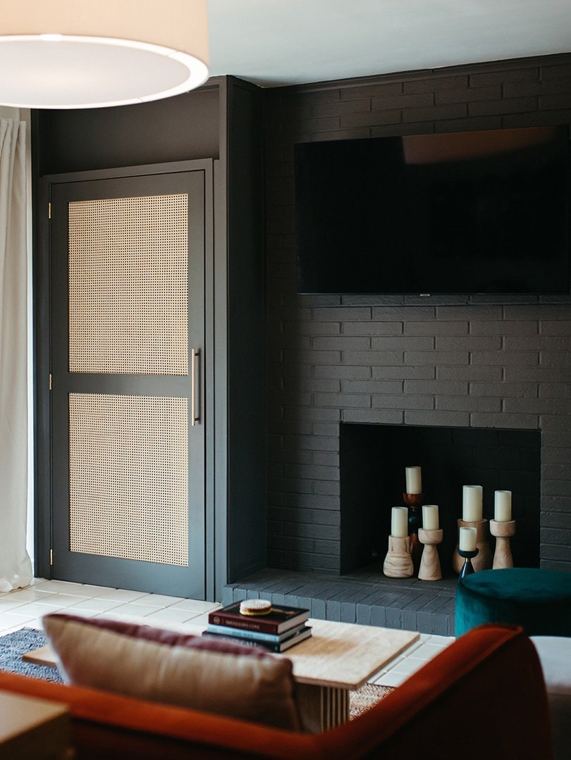 An IKEA hack sparked the idea for these stylish boiler-disguising doors