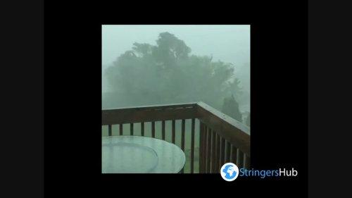 US: Severe Thunderstorm Strikes Kansas City