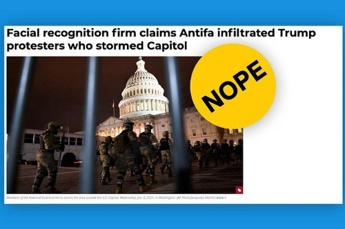 Misinformation and more about the assault on the U.S. Capitol