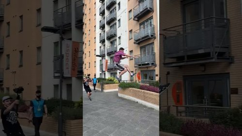 Parkour Fanatic Makes Big Stride