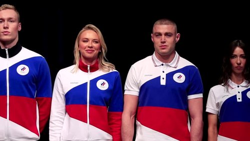 Russia's flagless uniforms 'lucky star' for Tokyo Games