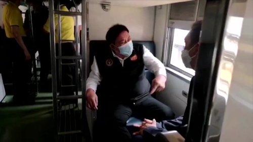 Bangkok turns train into COVID isolation center