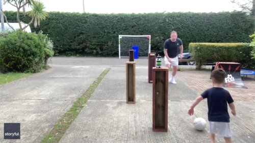 Father and 4-Year-Old Son Orchestrate Beautiful Goal